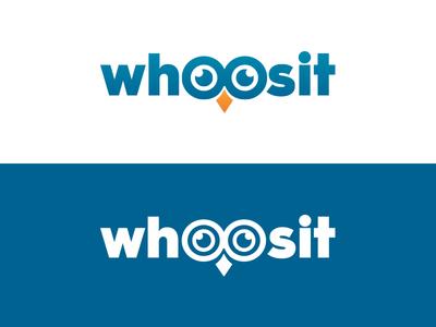 WhooSit Logo typography text test learning owl branding logo