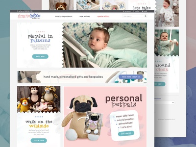 Gracie Boos eCommerce fun cute child baby design homepage website shop store ecommerce visualsoft