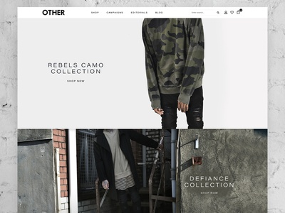 Other eCommerce minimal clean menswear streetwear fashion design homepage website shop store ecommerce visualsoft