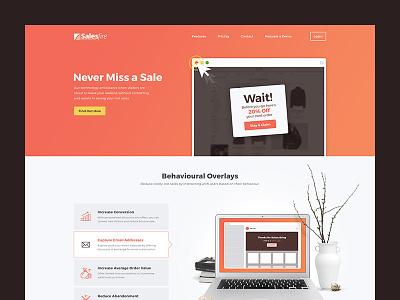 Salesfire homepage saas startup ux ui