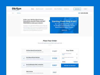 Erudyte - Ob/Gyn Test ux ui healthcare website