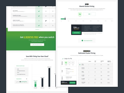 scalegrid grid chart pricing database cloud webapp product design saas web app interface design website clean ui