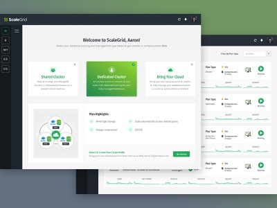 scalegrid app saas ui design ux product design app interface design clean ui