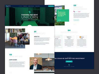 Northern Stable website clean funding investments branding ux ui landingpage homepage