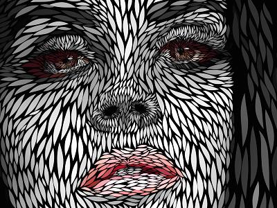 Lana Del Rey   Vector portrait vector illustration adobe draw lana del rey portrait