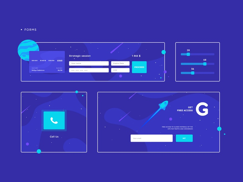 NSH - FORMS logo illustration flat design branding landing animation website web ux ui site interface