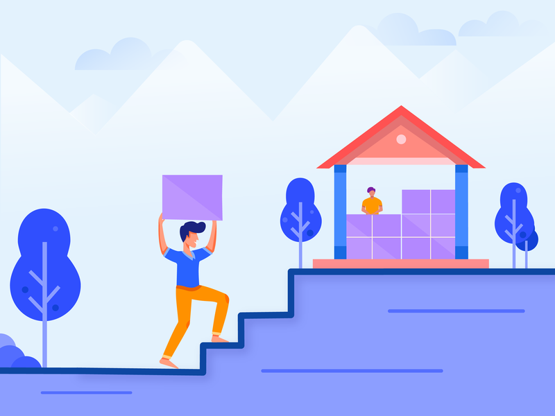 Building your dream illustration(repost) flat minimal flat vector illustration vector illustration design