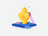 deposit money illustration