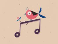 Musically bird