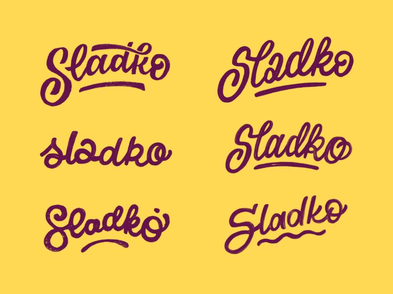 Sladko Sketches lettering typography logo typography logotypes logotype initial sketches logo