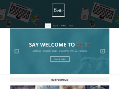 Beite - Free Portfolio Bootstrap Template website web design webdesign unsplash typography template layout gold designer creative conference bootstrap