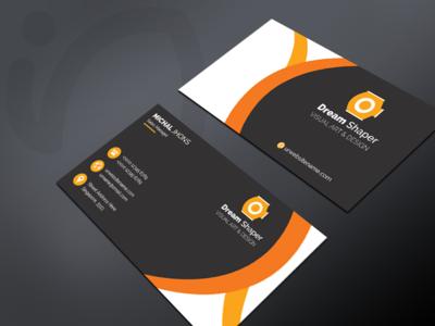 Dream Shaper - Free Business Card Template stacks slider ios app poster print space logo card business cards business card branding