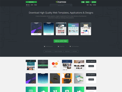 InAnnex.com New Home Page Design latest release coming php css 3 html 5 bootstrap 4 home creative web ui design