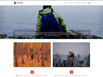 Inspinite web design ux user interface user experience ui template web theme minimal joomla design clean app