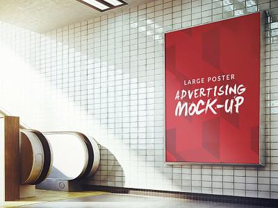 Underground poster mock up design Free Psd mockups templates up mock website web template design mockup poster