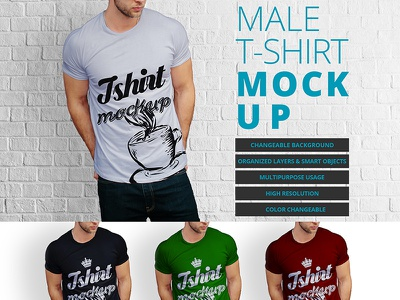 Male t-shirt mock up design Free Psd tshirt men up mock boy shirt website web man template design mockup