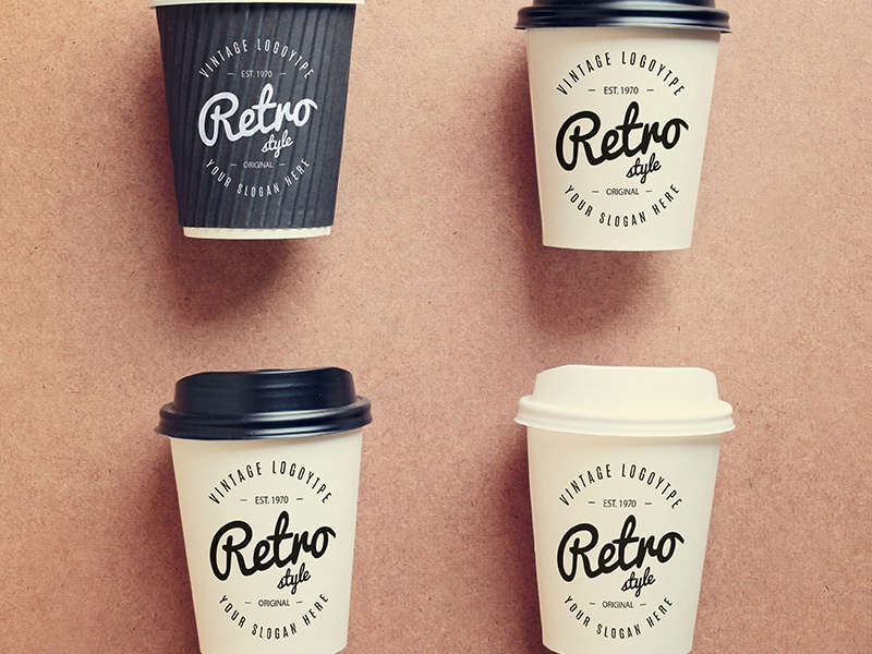 Coffee cups collection mock up Free Psd by Anusree Nandi on