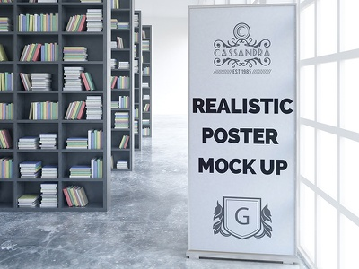 Realistic poster mock up Free Psd realistic mockups mock up roll website web template mockup poster