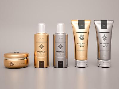Cosmetics mock up design Free Psd cosmetics tools up mock salon website brush beauty fashion template design mockup