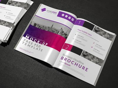 Brochure mock up design Free Psd