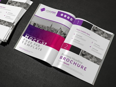 Brochure mock up design Free Psd presentation website web leaflet marketing template design abstract mockup flyer brochure