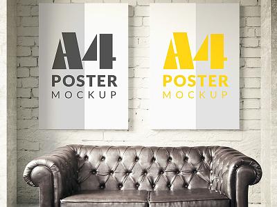 Poster mock up template Free Psd mockups templates posters up mock website web template mockup poster