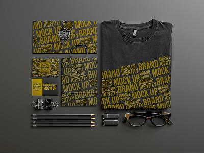 Stationery mock up design Free Psd stationery bag shirt website web template design abstract mockup card business