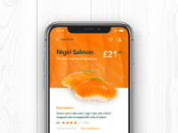 Sushi - Mobile App UI