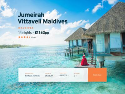 Hotel booking platform UI concept