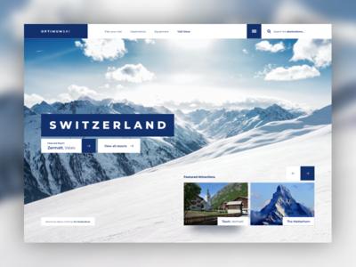 Ski Destination Landing Page