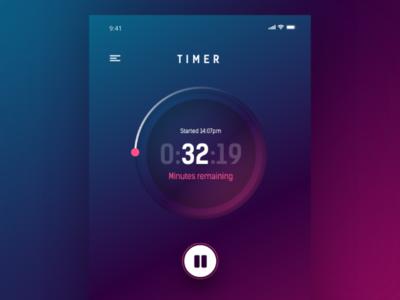 Timer based UI