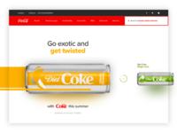 Coca Cola Landing Page