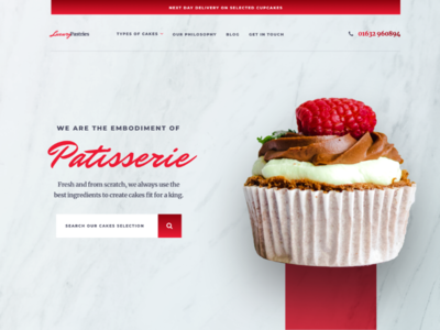 Luxury Patisserie Landing Page