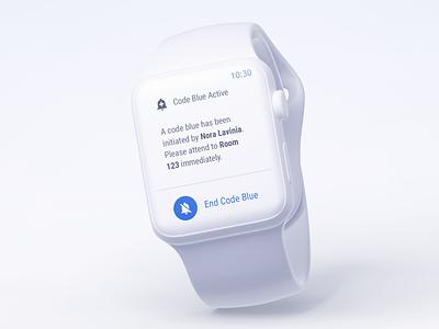 Code Blue wearable tech user experience watchos watch uidesign ui ux design wearables