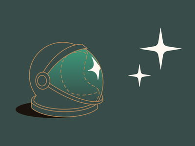It's good to dream dreaming sky space astronaut stars helmet dreams dream line illustration