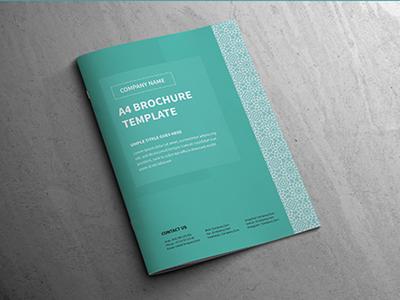Modern A4 Corporate Business Brochure Template template print logo free design customisable corporate clean catalogue catalogs brochure brand