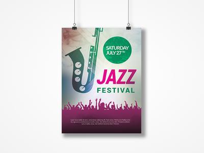 Jazz Festival Event Flyer template print logo free design customisable corporate clean catalogue catalogs brochure brand
