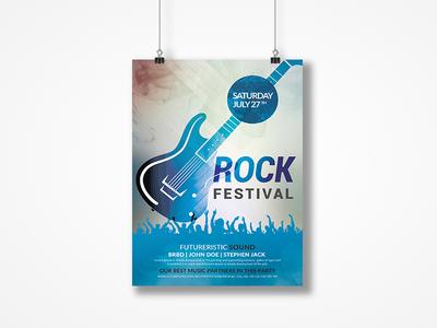 Rock Festival Event Flyer template print logo free design customisable corporate clean catalogue catalogs brochure brand