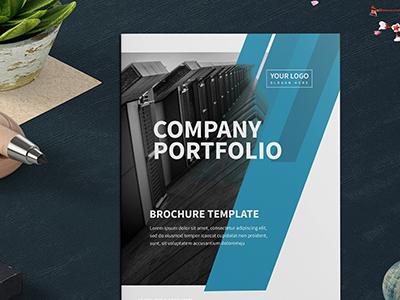 Company Profile Brochure template print logo free design customisable corporate clean catalogue catalogs brochure brand