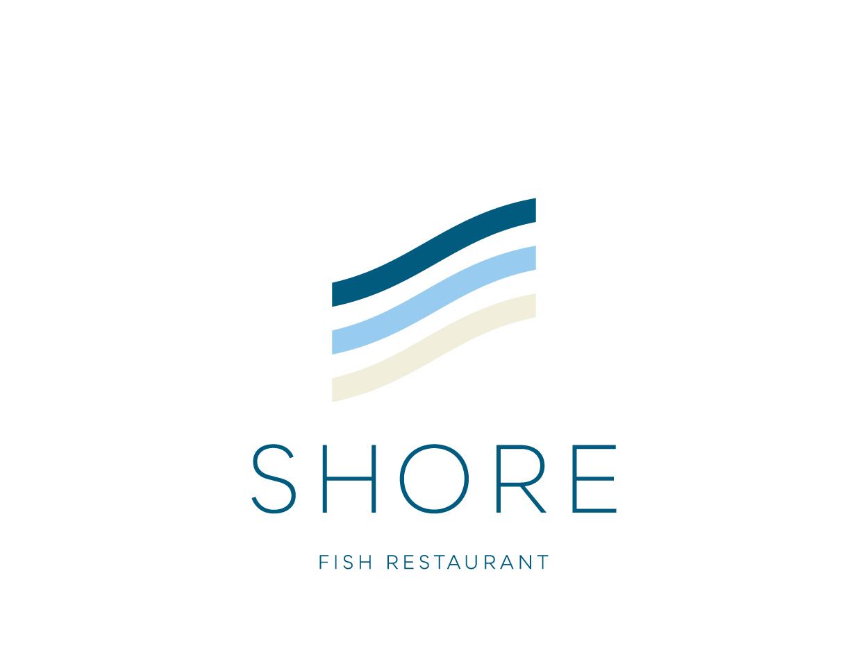 Shore Fish Restaurant - Brand Identity brand identity visual identity brand design logo design branding logodesign logo restaurant logo