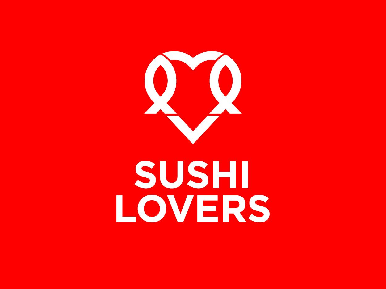 Sushi Lovers - Brand identity sushi visual design logodesigner logo design branding logo designer identity design brand identity visual identity logo design brand design logodesign logo