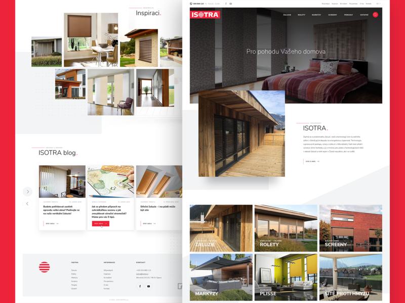 Isotra desktop adobe photoshop webdesign ux website modern roller blinds homepage design ui web