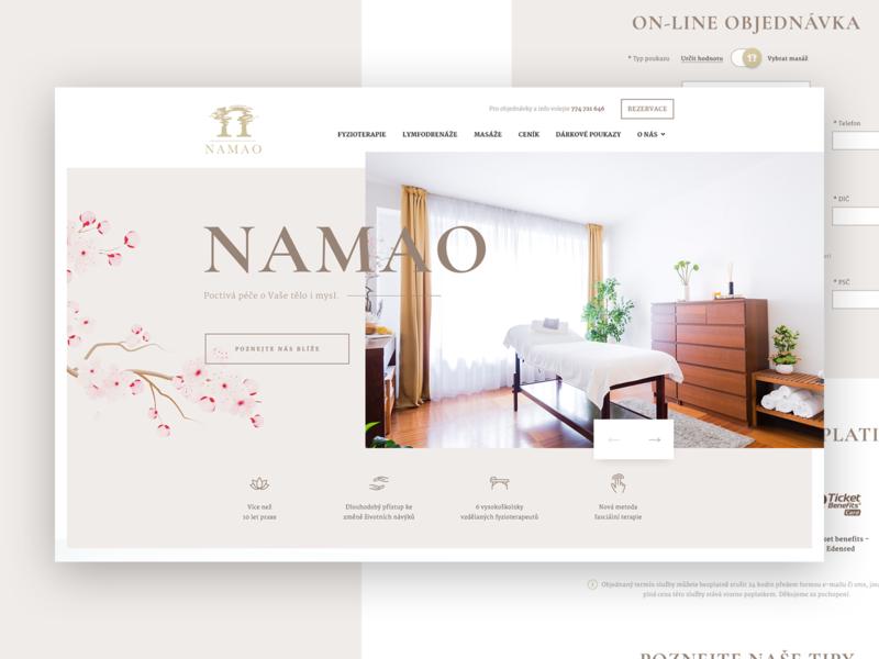 NAMAO detail design subpage adobe photoshop desktop web ux ui webdesign homepage relax massage spa