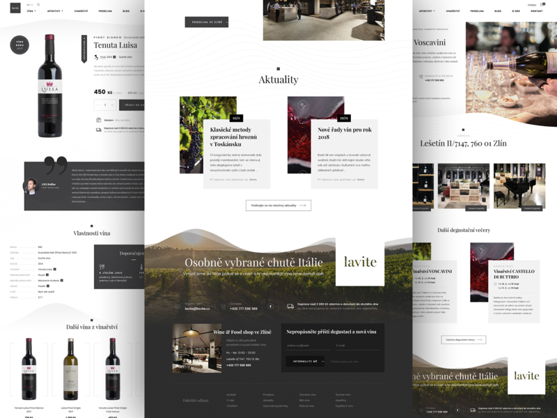 Lavite detail web design ui adobe photoshop wine product desktop webdesign page footer shop eshop ecommerce lavite