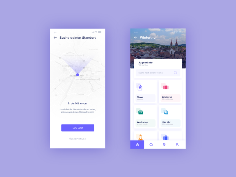 User Interface Design - Search Location map location web ui animation app ux