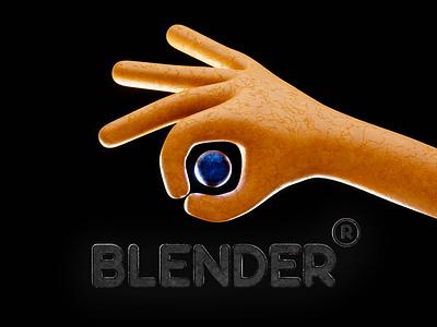 hand blended made hand branding logo practice 3d art b3d illustration blender3d design 3d