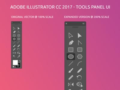 Illustrator CC Tools panel ui Freebie