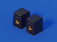 KRK Rokit 5 - Studio Monitors in 3d