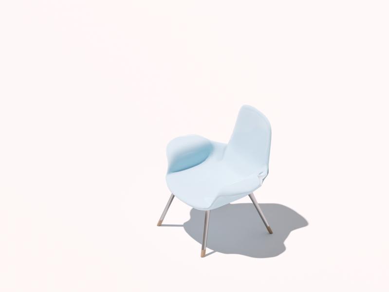 Isometric chair one lighting chair cycles cyclesrender render illustration modelling practice blender3d b3d 3d art 3d design