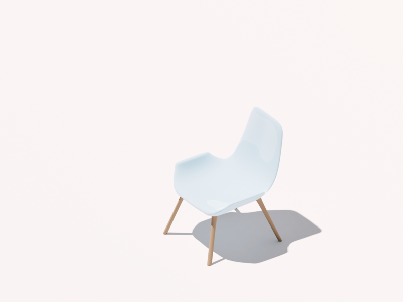 Isometric chair two chair lighting cyclesrender cycles illustration modelling practice blender3d b3d 3d art 3d design